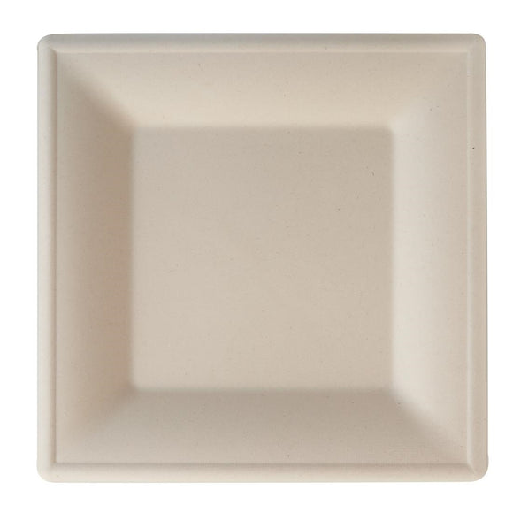 Click N Order photo of a Eco-Fibre Compostable Wheat Square Plates 260mm (Pack of 500)