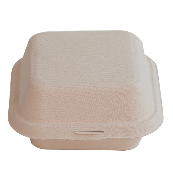 Click N Order photo of a Eco-Fibre Compostable Wheat Burger Boxes (Pack of 500)