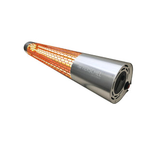 Click N Order photo of a Herschel Sunset California Remote Controlled Electric Patio Heater Silver 2kW