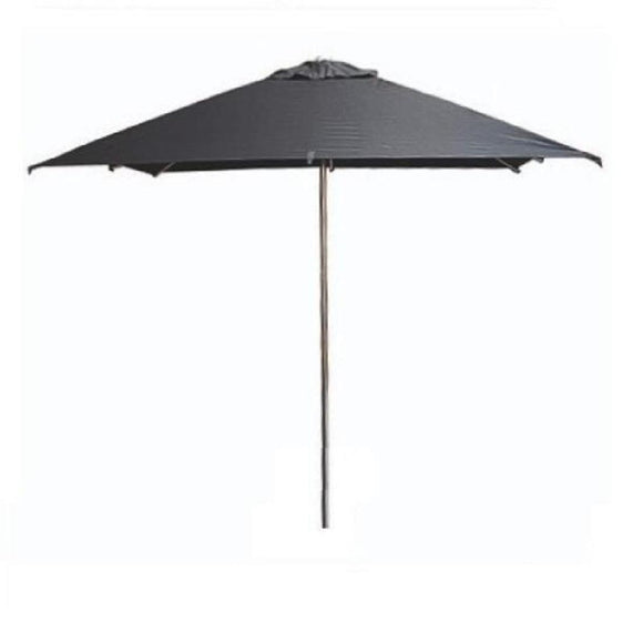 Click N Order photo of a Eden Milan Square Parasol 2.5 x 2.5m Black