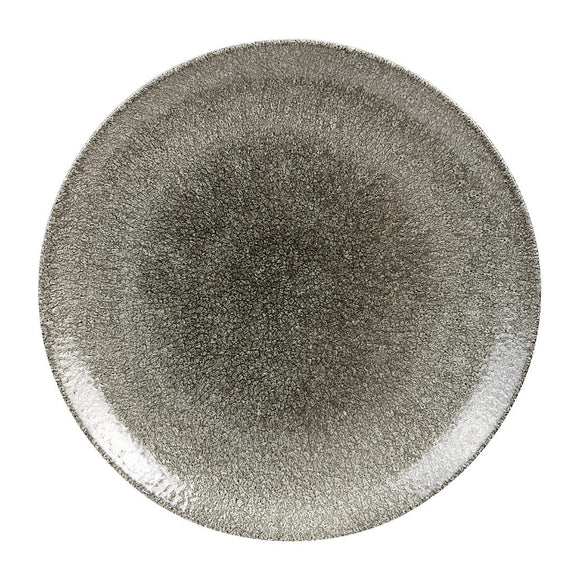 Click N Order photo of a Churchill Studio Prints Raku Round Coupe Plates Quartz Black 288mm (Pack of 12)