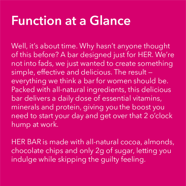 HER BAR - Multivitamin Protein Bar - WTF Bar