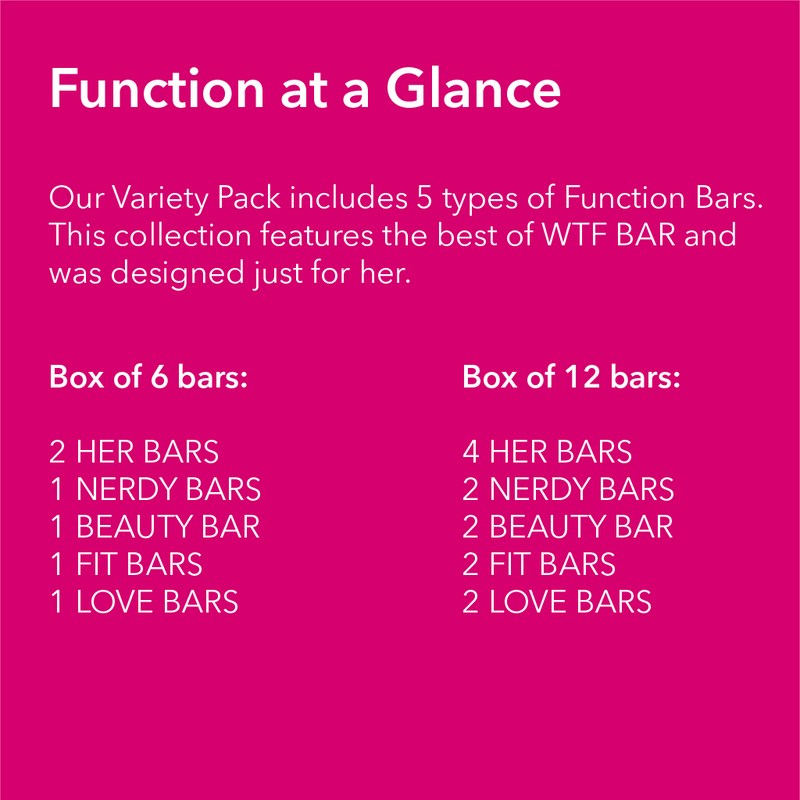 VARIETY PACK - HER - Vitamin & Protein Bar - WTF Bar