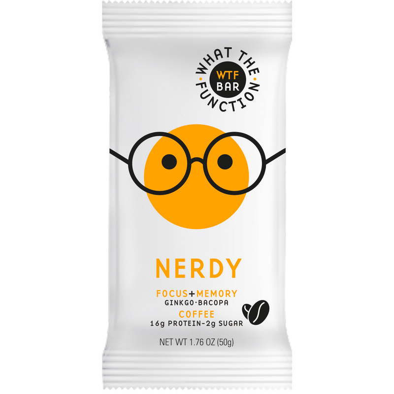 NERDY BAR - Nootropic Protein Bar - WTF Bar