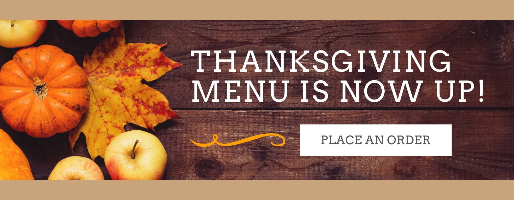 Thanksgiving Menu is Now Up!