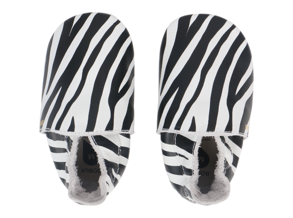 Bobux Shoes: Soft Sole Zebra Print White