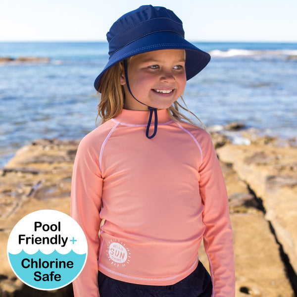 Girls Rash Vest - Peach