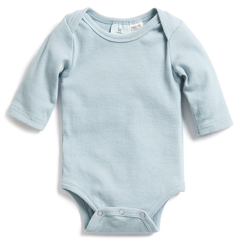 ergoPouch Bodysuits Long Sleeve - Sterling (Blue) | Tog 0.2