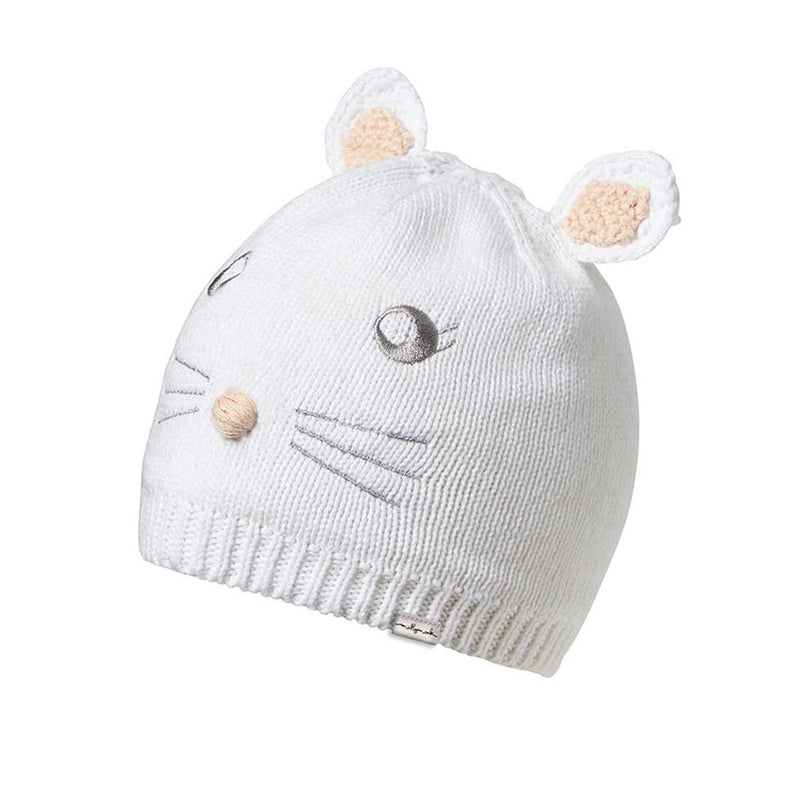 Millymook Baby Girls Beanie - Bunny | White