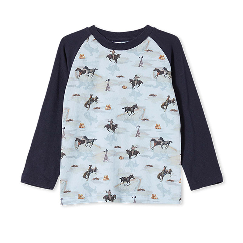 Milky Cowboy Tee - French Navy
