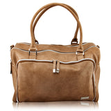 Isoki Double Zip Satchel Nappy Bag - LATTE