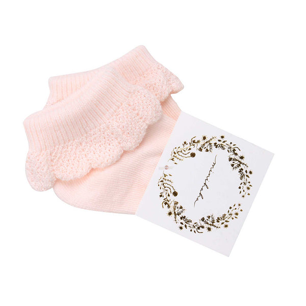 Minihaha Drop Needle Socks - Pale Pink