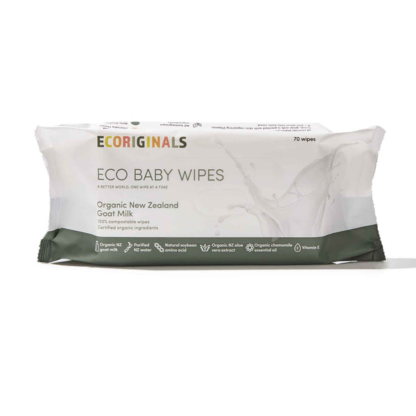 Ecoriginals Eco Baby Wipes - Goat Milk