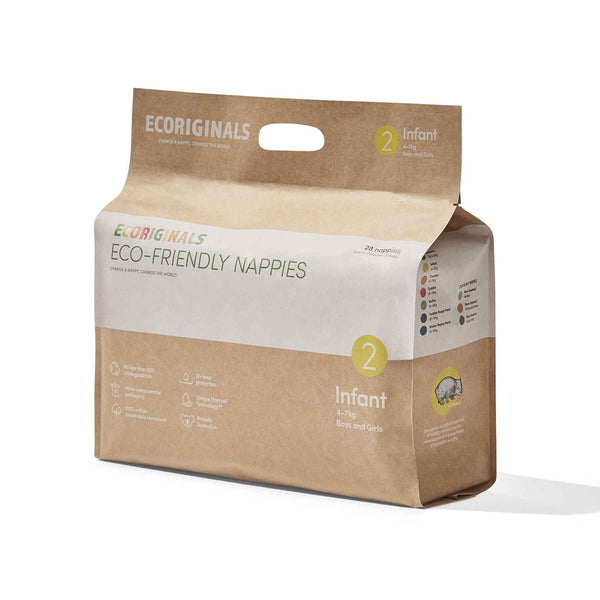 Ecoriginals Eco-Friendly Nappies - Infant (4-7kg)