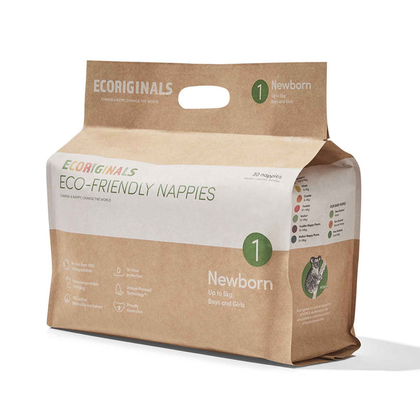 Ecoriginals Eco-Friendly Nappies - Newborn (up to 5kg)