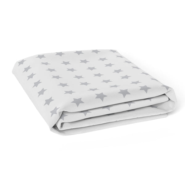Everyday Essentials 2 pack Jersey Cot Fitted Sheets - White, Grey Stars