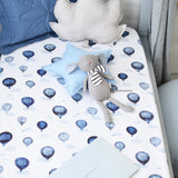Snuggle Hunny Fitted Cot Sheet - Cloud Chaser