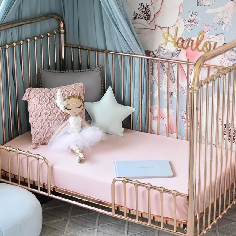 Snuggle Hunny Fitted Cot Sheet - Lullaby Pink