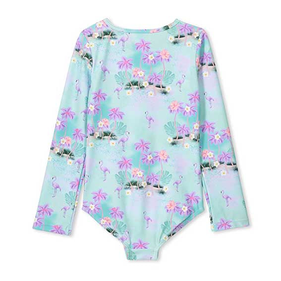 Flamingo L/S Swimsuit (kids)