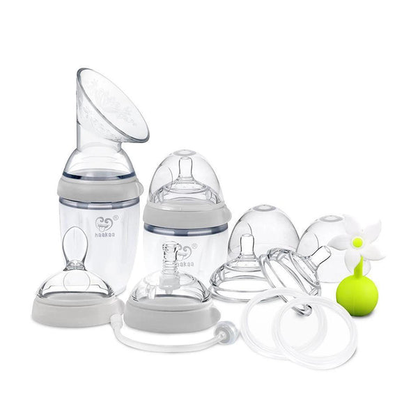 Haakaa Premium Gen 3 Silicone Breast Pump & Bottle Pack