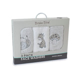 Grey Playtime 3pk Face Washers
