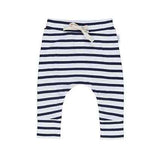 Koala Drop Crotch Pant - White + Navy Stripe