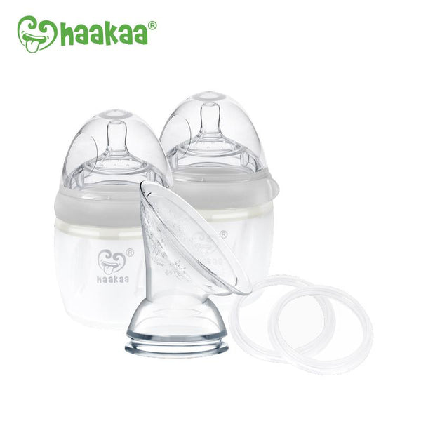 Haakaa Multifunction Silicone Gen 3 Pump & Bottle Pack | 160ml