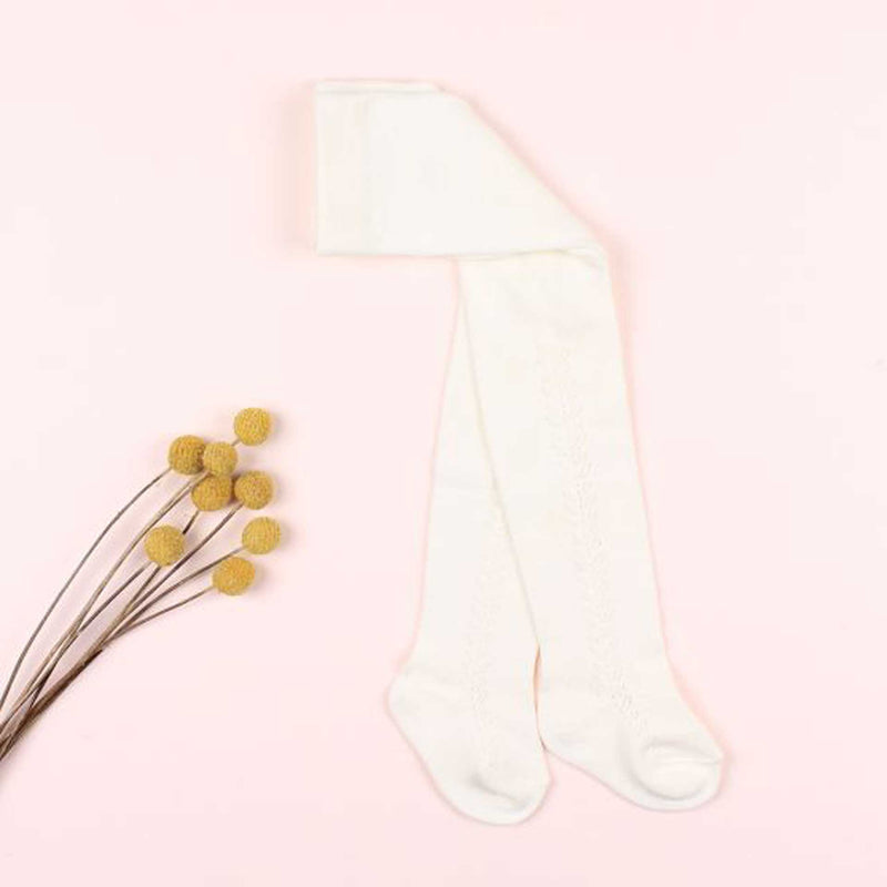 Minihaha Open Work Tights - Ivory