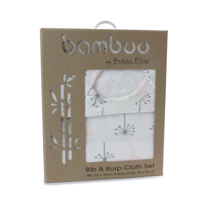 Bamboo Bib & Burp Cloth Set - Pink Bloom