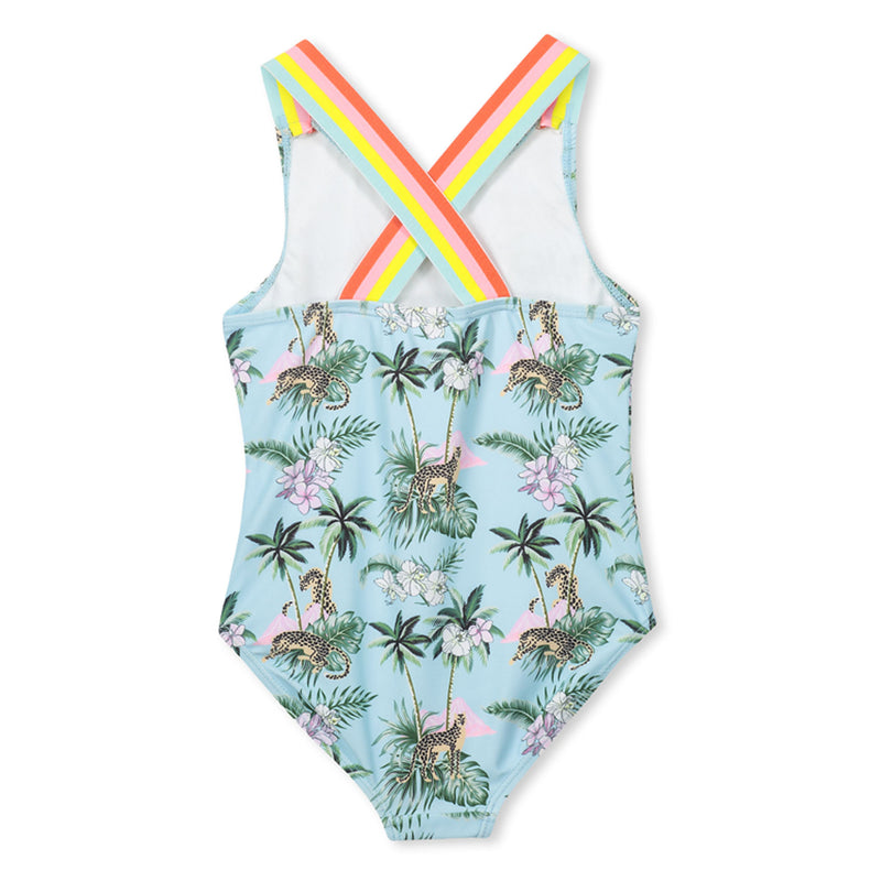 Tropical Swimsuit Rainbow Straps - Sleeveless Girls