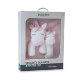 Unicorn Security Blanket & Rattle Set