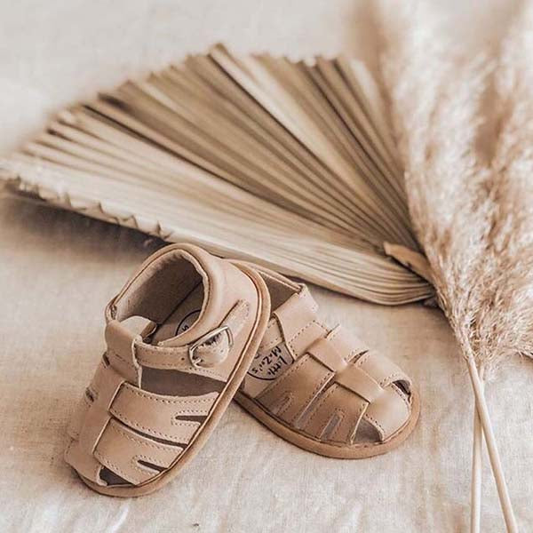 Wax Leather Zoe Sandals - Sand