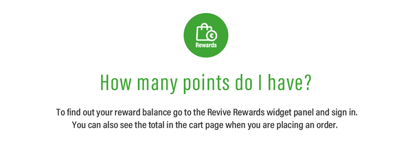 Revive Rewards - How many points do I have?