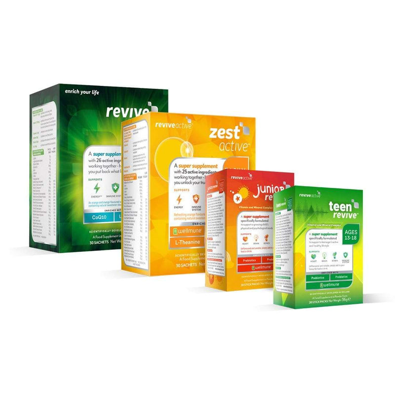 Revive Active Vitamins & Supplements Revive Active + Zest Active + Junior Revive + Teen Revive