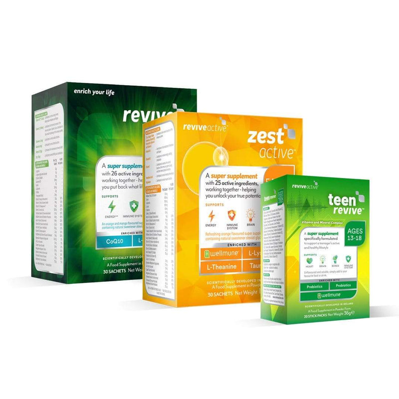 Revive Active Vitamins & Supplements Revive Active + Zest Active + Teen Revive
