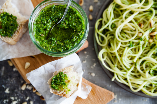 Wild Garlic Pesto with Pine Nuts