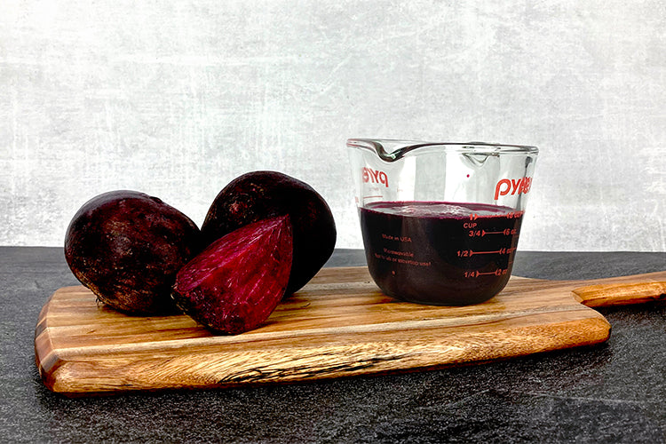 beets next to one cup of beet juice