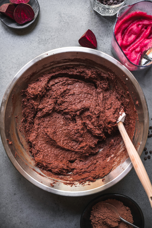 beet brownie batter
