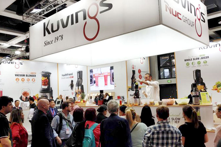 Kuvings trade show demonstration