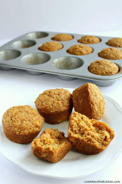 juice pulp muffins on a plate