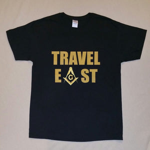 Masonic Travel East-Mason t-shirt  streetwear  men t shirt  Short  Casual  Cotton short sleeve t shirt men