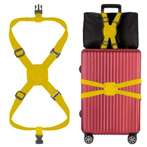 Travelling Elastic Luggage Belt Baggage Adjustable Straps Tie Down Belt New