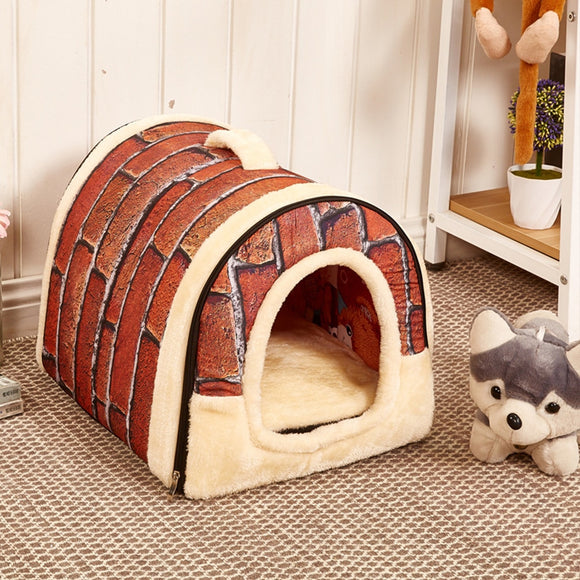Pet House Igloo Foldable Warm Padded Winter Bed House