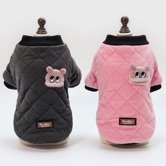 Plaid Dog Coat Hoodie