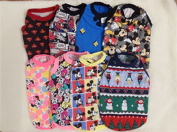 Superman Mickey Minnie Mouse Summer Dog Shirts