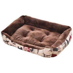 Washable Soft Warm Thick Velvet Dog Bed