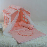 Dog princess room lace hut luxury kennel cotton pet tent dog toy room