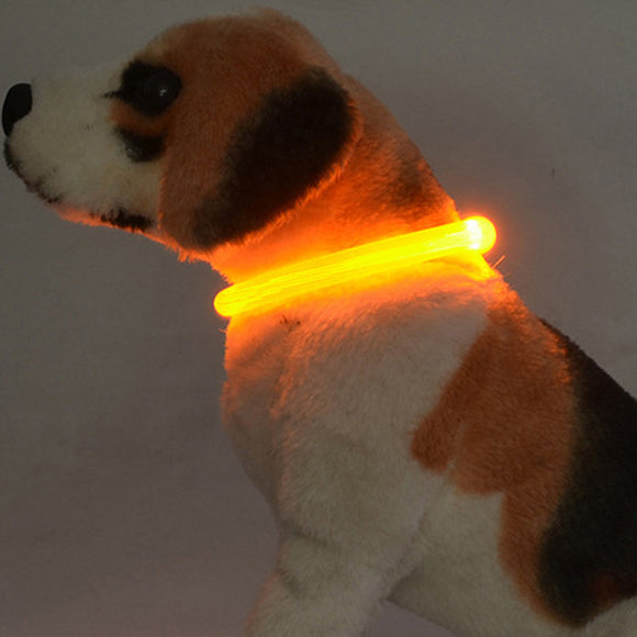 Waterproof Rechargeable USB LED Flashing Light Band Belt Safety Dog Collar