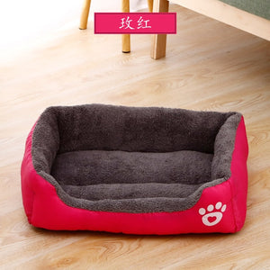 Dog Bed Warm House Candy-colored Square Nest Pet Kennel