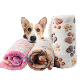 Soft Pet Blanket Winter Dog Bed Mat Foot Print
